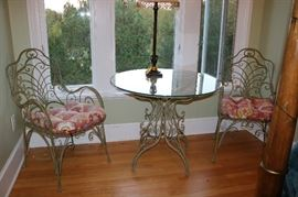 Ornate Bistro Table with 2 Chairs