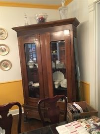 antique china cabinet / pie safe