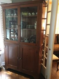 Antique glassfront china cabinet