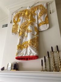 One of many ceremonial silk kimonos on display!