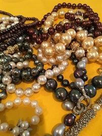 Dozens of pearl necklaces!