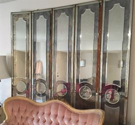 Vintage Mirrored Wall