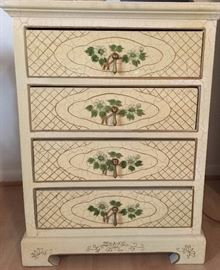 Hand Painted 4-dr Crackle Chest