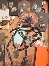 Sterling silver and Southwest jewelry from the estate