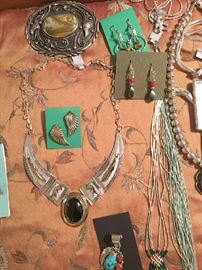 Native American sterling silver jewelry from the estate