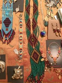 Southwest and other artisan jewelry from the estate