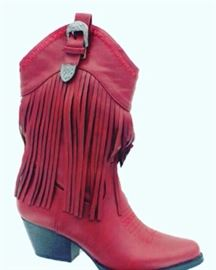 Red Cow Girl Boots size 6-11