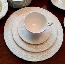 "Wedgwood ""willow weave"" pattern detail."