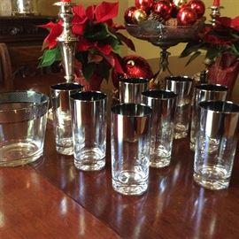 Silver Ombre vintage cocktail set