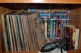 record albums and disney VHS