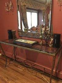 Glass top console table....not mirror :)