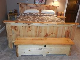 King size bed frame-matress not included.