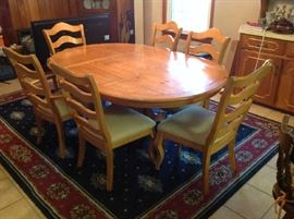 Dining Table / 6 Chairs - $ 350.00