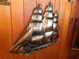 Metal Ship Wall Hanging $ 40.00
