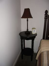 Pair of side tables and lamps available