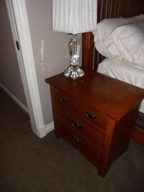 Another pair of side tables and lamps in another bedroom.