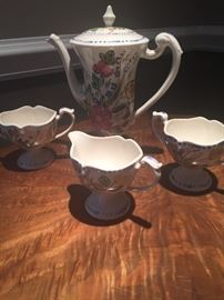 LOT # 335 Vintage china tea set 4 pc. $25