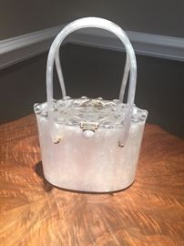 -Lucite Handbag $25.00.00 ***BUY IT NOW PAYPAL** Original Rialto N.Y. Condition is perfect~missing locking clasp **BUY IT NOW PAYPAL ** LOT#343