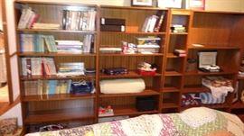 Beautiful wood bookcases