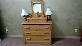 Dresser and lamps