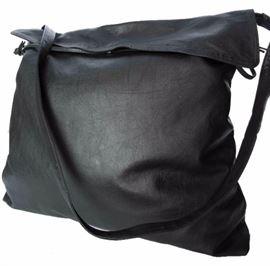 BOTTEGA VENETA Bottega Veneta Black Leather Cross Body Bag Black Extra Large Messenger Bag
