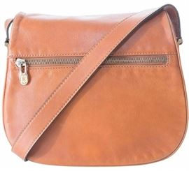 CELINE celine cross body bag tan messenger calfskin cross body trotteur purse
