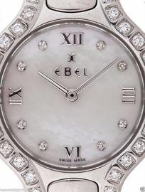 EBEL Diamond Bezel MOP Diamond Dial Beluga Womans Watch MSRP$5799 MINT