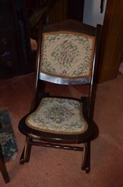 Vintage Folding Rocking Chair