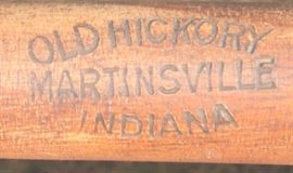 Old Hickory Martinsville Indian stamp that is on each chair of the set of 4 Old Hickory chairs
