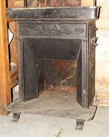 Cast iron stove, French circa 1840's