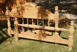 Circa 1860's pine headboard and footboard, Utah