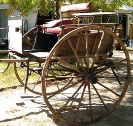 "Antique ""Country estate village cart"" for 4 passengers, ""back to back"".  Needs restoration"