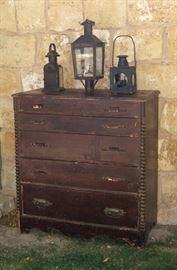 Utah pine painted chest of drawers