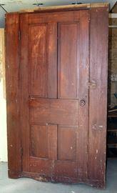 Pine wardrobe, mahogany grain painted from Salt Lake City, circa 1860-70's