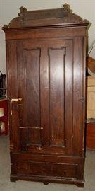 Pine wardrobe, grain painted from Fountain Green, Utah