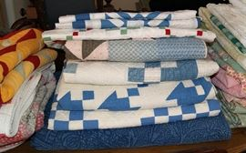 Lovely selection of quilts