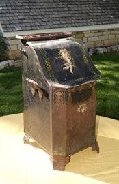 Antique coal holder