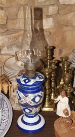 Misc. smalls, English brass candleholders