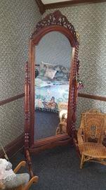 Tall Adjustable Floor Mirror