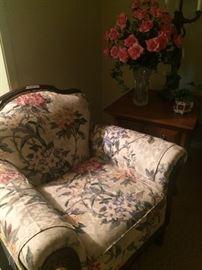 Antique chair has matching sofa