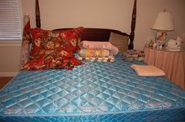 King Size 4 Poster bed with Mattresses