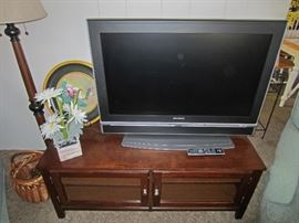"""37"""" TV with DVD player."""