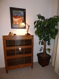 """Signed """"Macey"""" stacking bookcase in immaculate condition."""