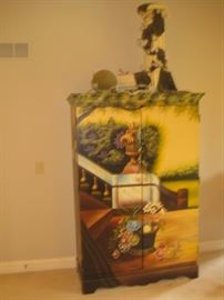 Hand painted Armoire.
