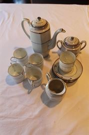"Demitasse set ... marked ""Phoenix China, Czechoslovakia"" ... coffee pot, sugar & creamer, 5 cups and saucers"