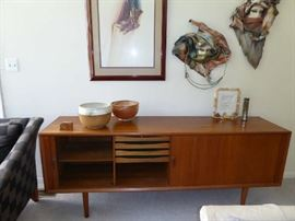 Open view of credenza
