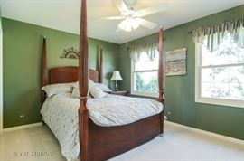 Beautiful four poster queen-sized bed for sale.