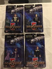 Babylon 5 action figures - mint in box.  We have 4 or 5 of each of these characters.