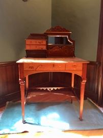 Inlaid Desk in the Manner of Galle, from Paris Collection (Includes verification letter from owner)