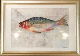 Framed Watercolor by J. Melore 2002
